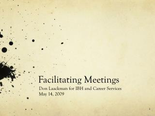 Facilitating Meetings