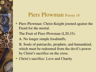 Piers Plowman Passus 18