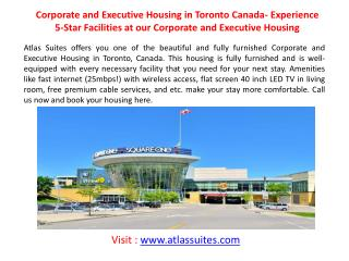 Short term apartment rental Canada