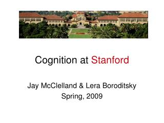 Cognition at  Stanford