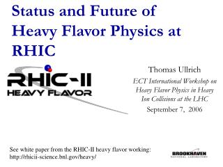 Status and Future of Heavy Flavor Physics at RHIC