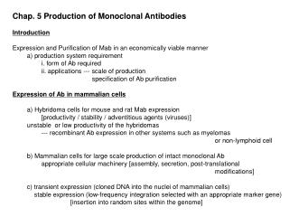 Chap. 5 Production of Monoclonal Antibodies Introduction