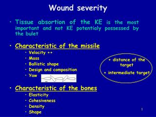 Wound severity