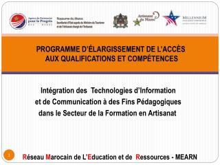 Intégration des  Technologies d'Information et de Communication à des Fins Pédagogiques