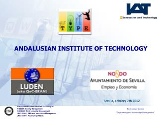 Management System certified according to: ISO9001: Quality Management