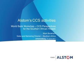 Alstom's CCS activities