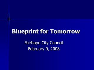 Blueprint for Tomorrow