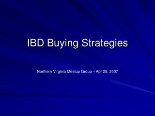 IBD Buying Strategies