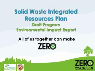 Solid Waste Integrated Resources Plan Draft Program  Environmental Impact Report
