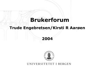 Brukerforum