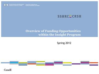 Overview of Funding Opportunities within the Insight Program