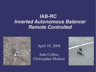 IAB-RC Inverted Autonomous Balancer Remote Controlled