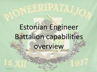 Estonian Engineer Battalion capabilities overview