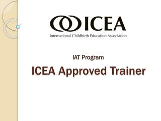 ICEA Approved Trainer