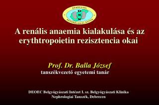 A renális anaemia kialakulása és az erythtropoietin rezisztencia okai