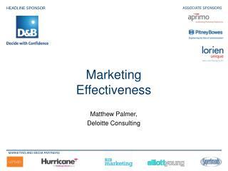 Matthew Palmer,  Deloitte Consulting