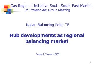 The Italian Balancing Point Task Force A short presentation