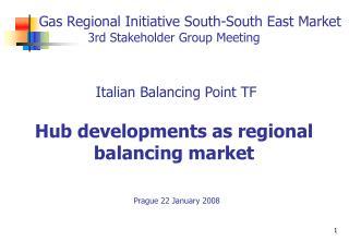 The Italian Balancing Point Task Force A short presentation