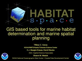 GIS based tools for marine habitat determination and marine spatial planning