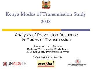 Kenya Modes of Transmission Study 2008
