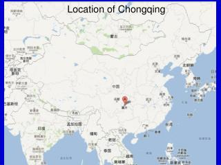 Location of Chongqing