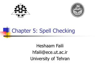 Chapter 5: Spell Checking