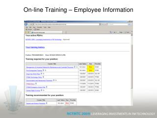 On-line Training   Employee Information