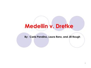 Medellin v. Dretke