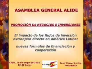 ASAMBLEA GENERAL ALIDE