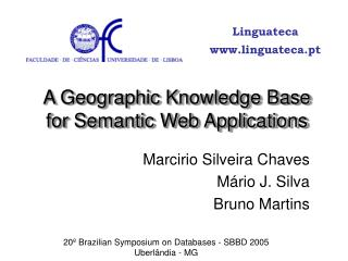A Geographic Knowledge Base for Semantic Web Applications