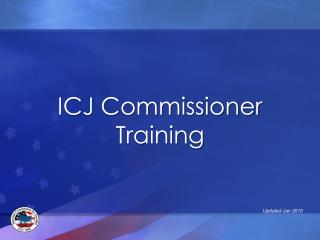 ICJ Commissioner  Training