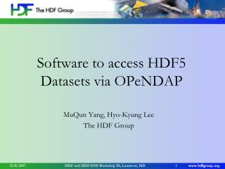 Software to access HDF5 Datasets via OPeNDAP