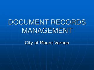 DOCUMENT RECORDS MANAGEMENT