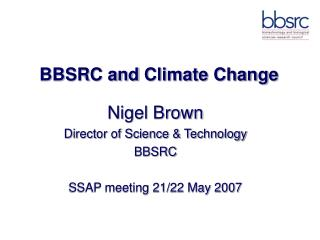 BBSRC and  Climate Change