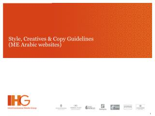 Style, Creatives & Copy Guidelines  (ME Arabic websites)