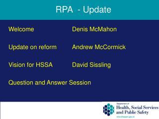 RPA  - Update