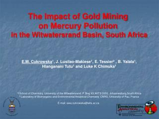 The Impact of Gold Mining  on Mercury Pollution  in the Witwatersrand Basin, South Africa