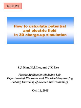 How to calculate potential  and electric field  in 3D charge-up simulation