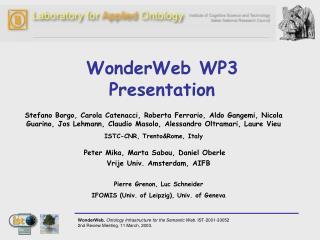 WonderWeb WP3 Presentation