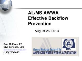 AL/MS AWWA  Effective Backflow Prevention