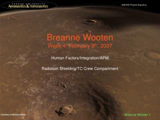 Breanne Wooten Week 4: February 8 th , 2007