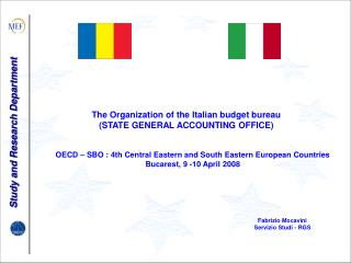 The Organization of the Italian budget bureau (STATE GENERAL ACCOUNTING OFFICE)