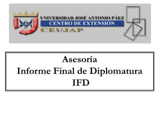 Asesoría Informe Final de Diplomatura  IFD
