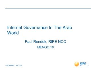 Internet Governance In The Arab World
