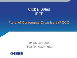 Global Sales IEEE