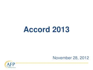 Accord 2013