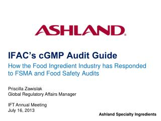 IFAC's cGMP Audit Guide