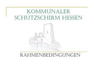 Kommunaler Schutzschirm Hessen