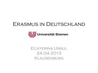 Erasmus in Deutschland