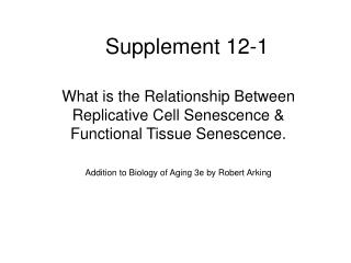Supplement 12-1